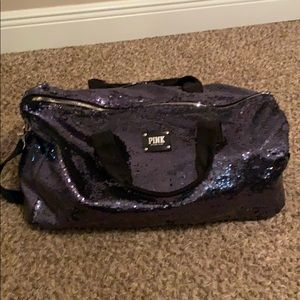 Victoria secret glitter duffel bag